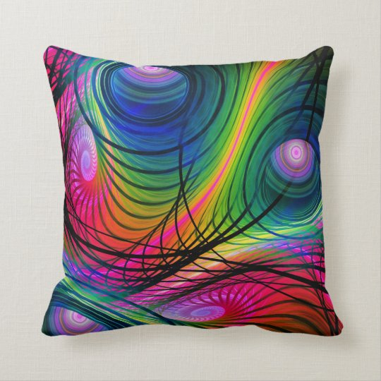 Modern Spiral & Circles Abstract Throw pillow