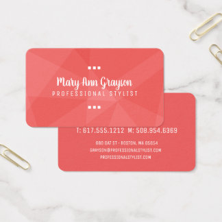 Modern Splash of Geometric Colors Business Card
