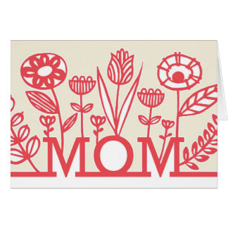 Modern Spring Floral Mother's Day Card