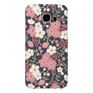 Modern Spring Flower Pattern Samsung Galaxy S6 Cases