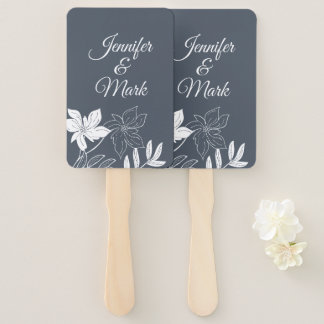 Modern Spring  Flowers. Couple Names Typography. Hand Fan