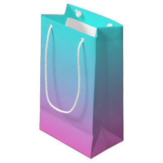 modern spring pink turquoise ombre wedding favor small gift bag