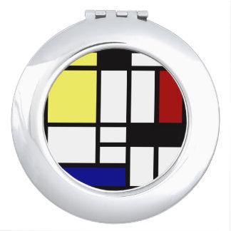 Modern Square Art Compact Mirror