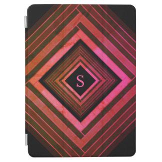 Modern Squares Rustic Pink Geometric Monogram iPad Air Cover