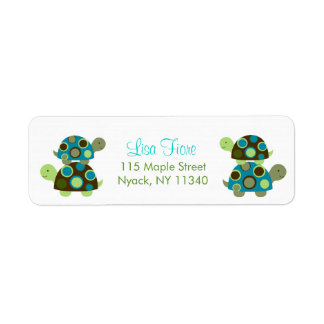 Modern Stacked Turtle Address Labels