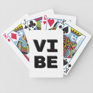 Modern Stacked VIBE Print Bicycle Playing Cards