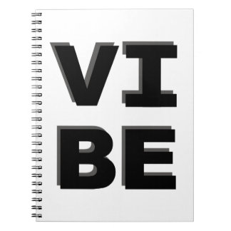 Modern Stacked VIBE Print Notebook