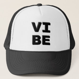Modern Stacked VIBE Print Trucker Hat