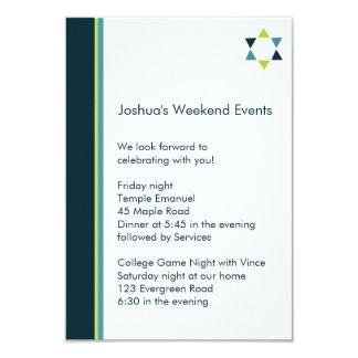 Modern Star Bar Mitzvah Insert Card