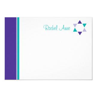 Modern Star Bat Mitzvah Thank You Card