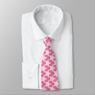 Modern Star Geometric - light and deep pink Tie