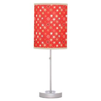 Modern Starburst Print, Deep Mandarin Orange Table Lamp