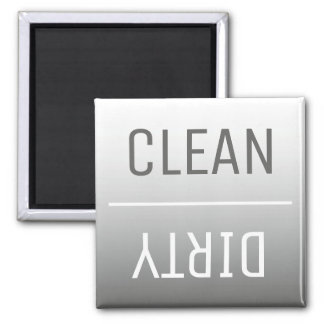 Modern Steel Gray Ombre Dishwasher Magnet