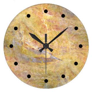 Modern Stone Background Large Clock