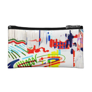 Modern Street Tiles from Lisbon's Funicular Cosmetic Bag