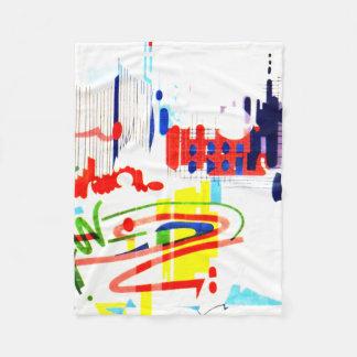 Modern Street Tiles - Lisbon Fleece Blanket