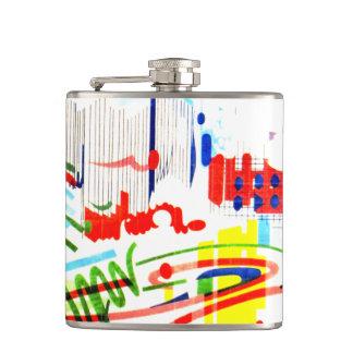 Modern Street Tiles - Lisbon Hip Flask