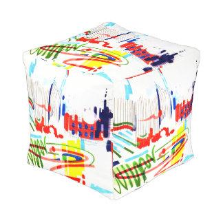 Modern Street Tiles - Lisbon Pouf