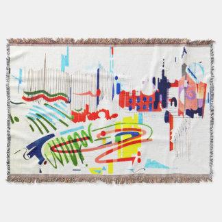 Modern Street Tiles - Lisbon Throw Blanket