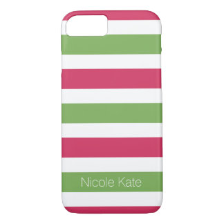 modern striped monogram iPhone 7 case