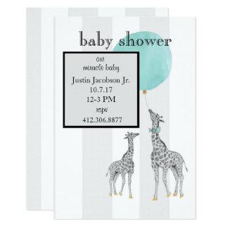 Modern Stripes Baby Shower Announcement (Boy)