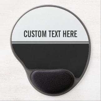 Modern Stripes Black and White Custom Gel Mouse Pad