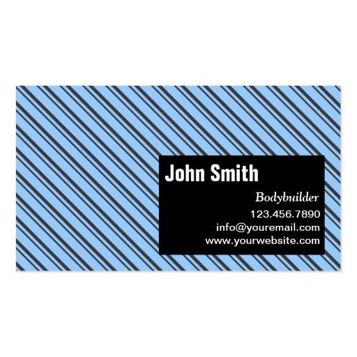 Modern Stripes Bodybuilding Business Card