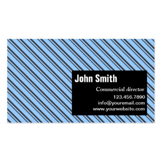 Modern Stripes Commercial Director Business Card