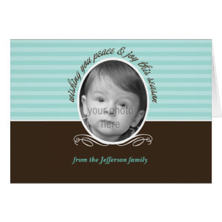 Modern Stripes Holiday Photo Card