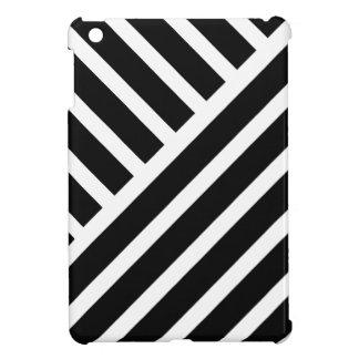 Modern stripes in black and white iPad mini case