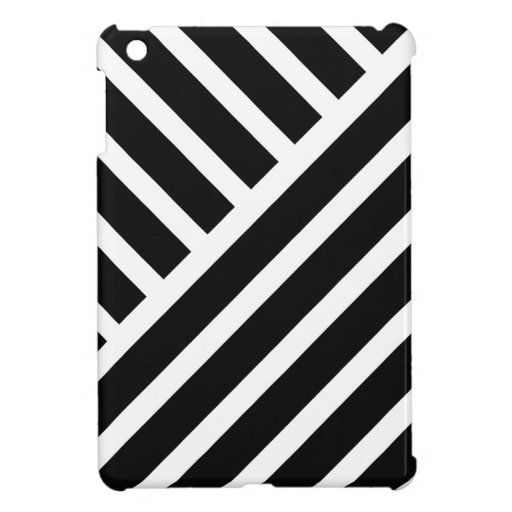 Modern stripes in black and white cover for the iPad mini