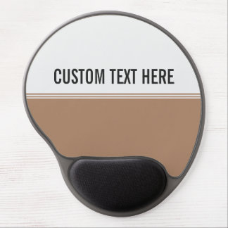 Modern Stripes Mocha Brown Custom Gel Mouse Pad