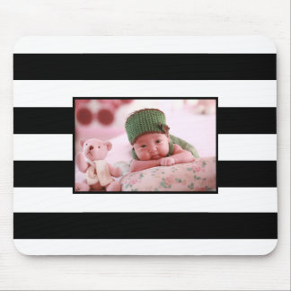 Modern Stripes Personalize customized Photo Mouse Pad