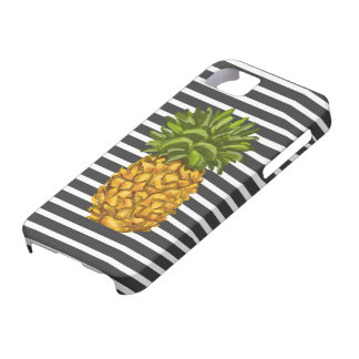 Modern Stripes Pineapple Phone Case