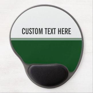 Modern Stripes Regal Green Custom Gel Mouse Pad