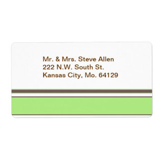 Modern Stripes Shipping Label