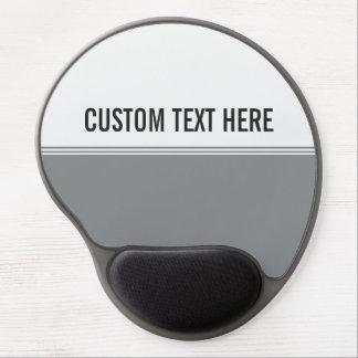 Modern Stripes Sleek Silver Custom Gel Mouse Pad