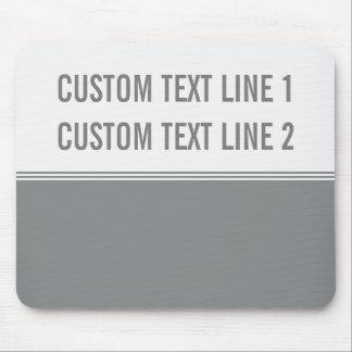 Modern Stripes Sleek Silver Custom Mouse Pad
