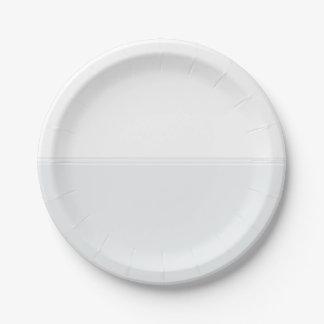 Modern Stripes Snow White Custom 7 Inch Paper Plate