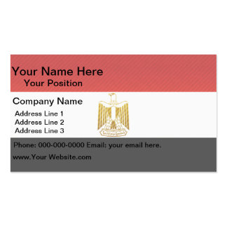 Modern Stripped Egyptian flag Business Card