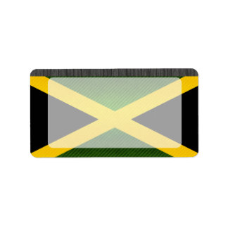 Modern Stripped Jamaican flag Label