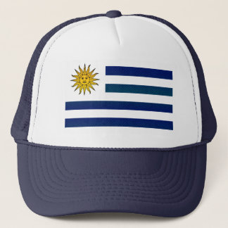 Modern Stripped Uruguayan flag Trucker Hat