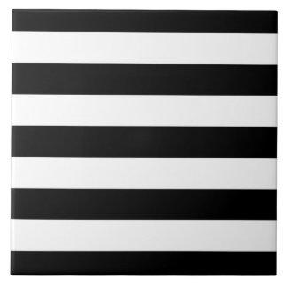 Modern Style Black And White Stripes Tile