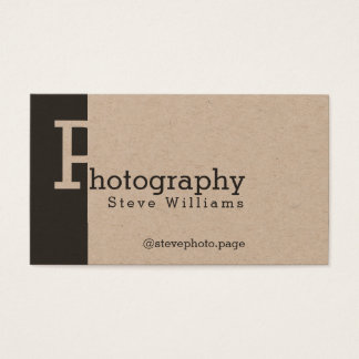 Modern style bold stand out business card
