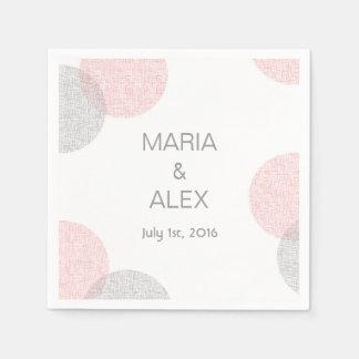 Modern Style Circle Wedding Napkins Paper Napkins