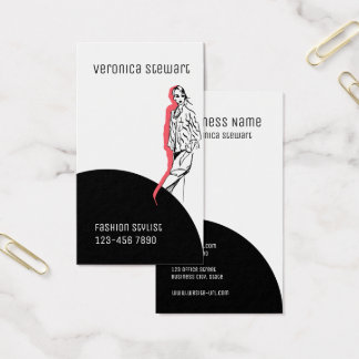 Modern Style Fashionillustratio Business Business Card