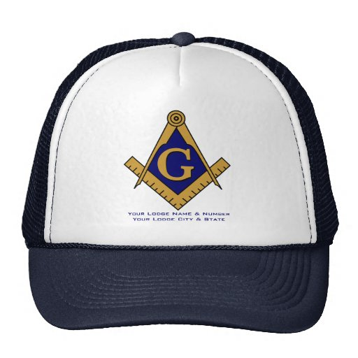 Modern Style Masonic Lodge Trucker Hat
