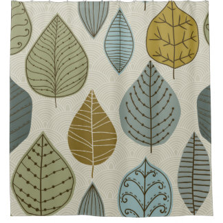 Modern & Stylish Autumn Falling Leaves Floral