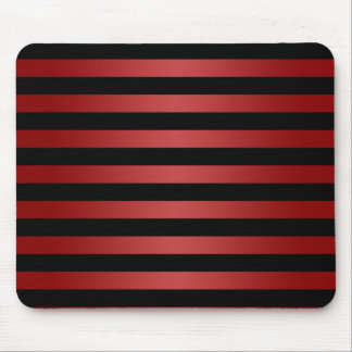 Modern Stylish Black and Red Stripes Pattern Mouse Pads