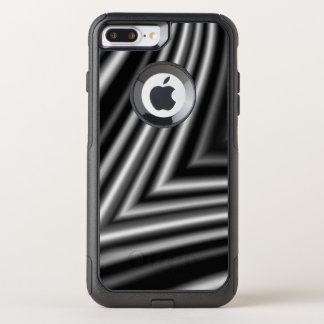 Modern Stylish Black White Pattern Chic OtterBox Commuter iPhone 7 Plus Case